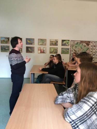 Beseda se studenty Mendelova gymnázia v Opavě